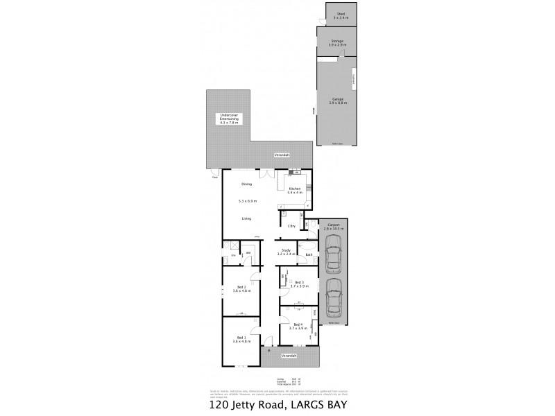 120 Jetty Road, Largs Bay SA 5016 Floorplan