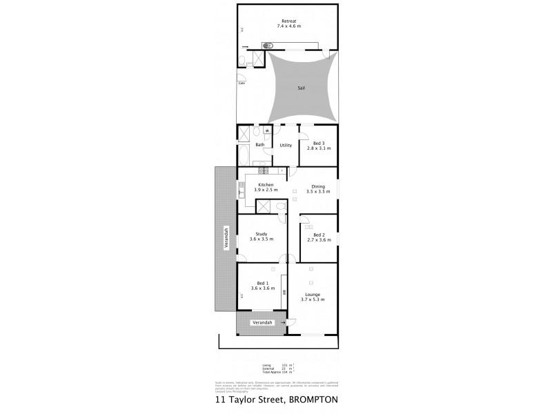 11 Taylor Street, Brompton SA 5007 Floorplan