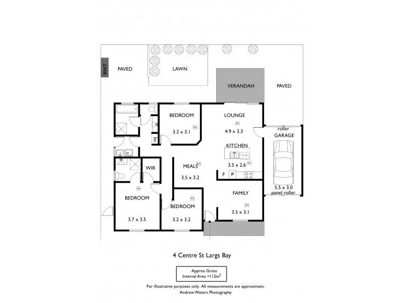 4 Centre Street, Largs Bay SA 5016 Floorplan