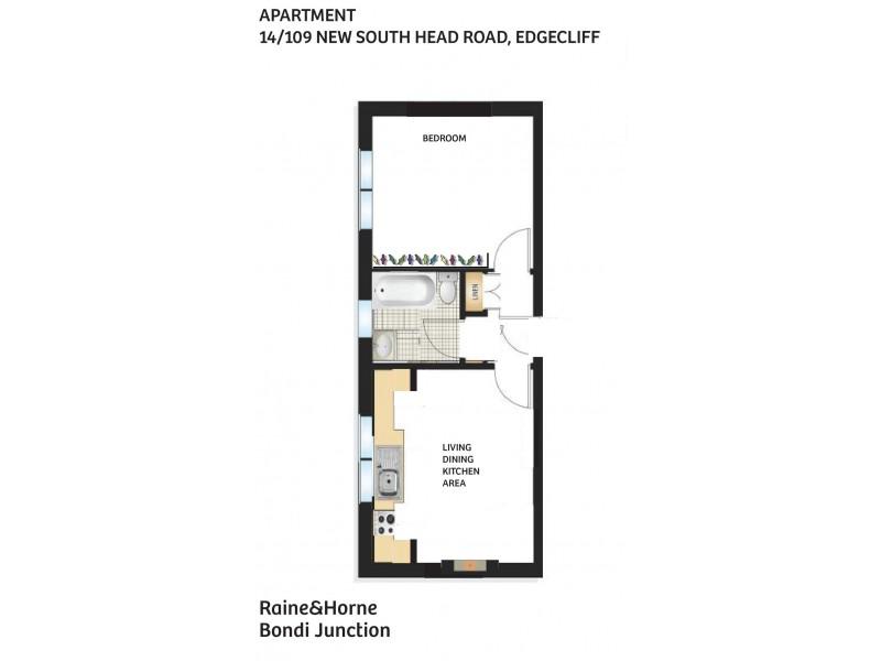 14/109 New South Head Road, Edgecliff NSW 2027 Floorplan