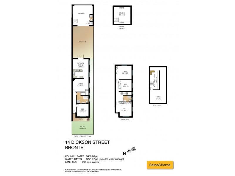 14 Dickson Street, Bronte NSW 2024 Floorplan