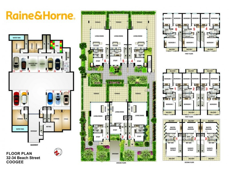 MOONTA 32-34 Beach Street, Coogee NSW 2034 Floorplan