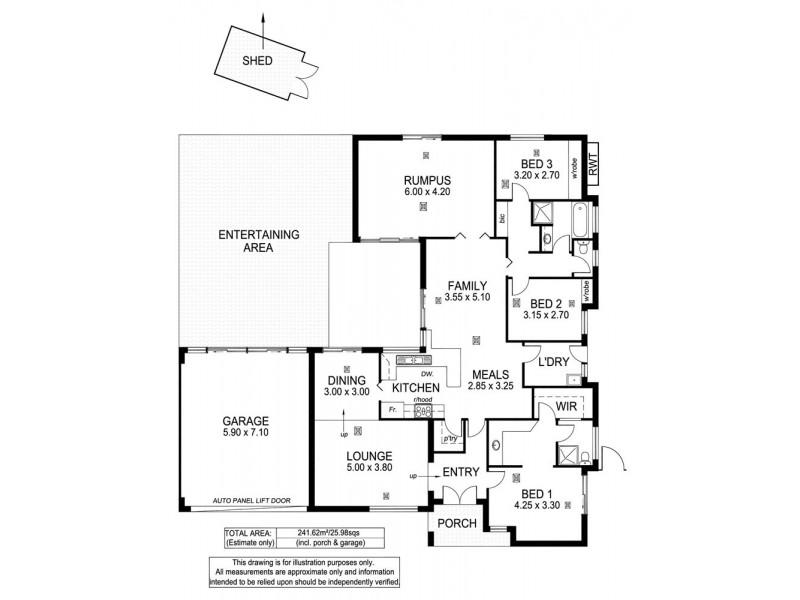24 Horseshoe Drive, Aberfoyle Park SA 5159 Floorplan