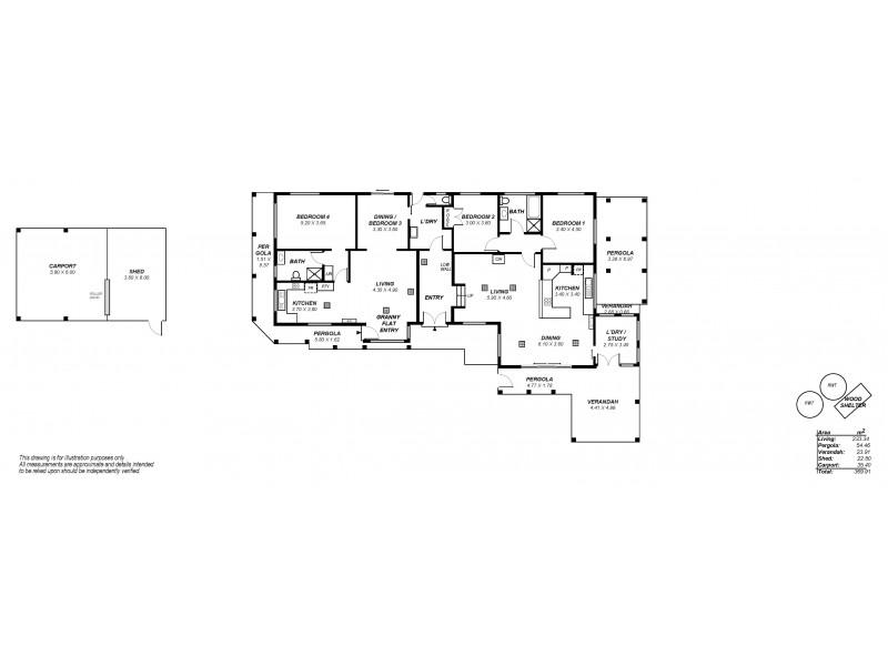 1 Oakley Road, Aberfoyle Park SA 5159 Floorplan