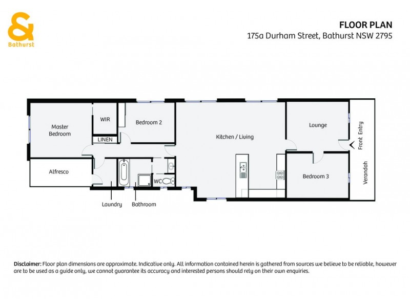 175a Durham Street, Bathurst NSW 2795 Floorplan