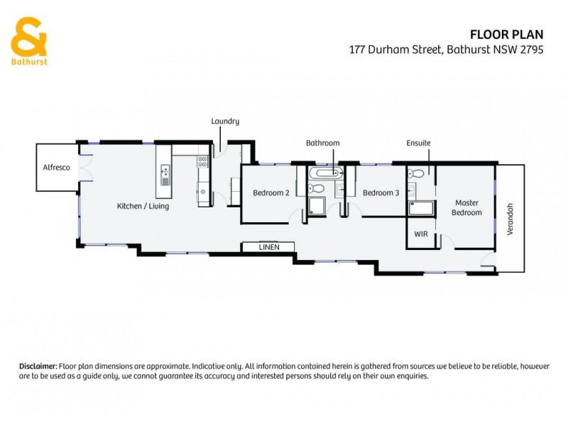 177 Durham Street, Bathurst NSW 2795 Floorplan