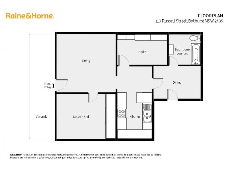119 Russell Street, Bathurst NSW 2795 Floorplan