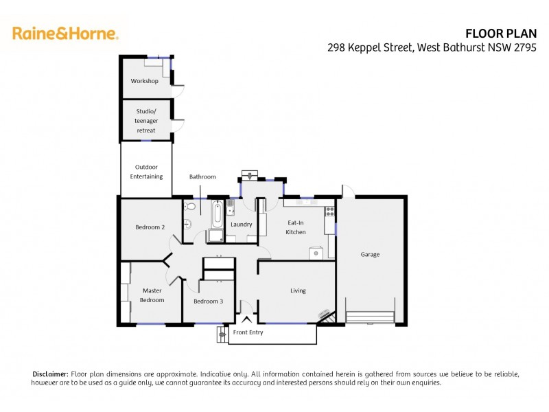 298 Keppel Street, West Bathurst NSW 2795 Floorplan