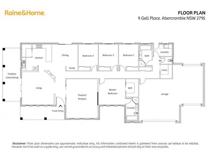 9 Gell Place, Abercrombie NSW 2795 Floorplan