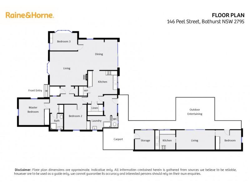 146 Peel Street, Bathurst NSW 2795 Floorplan