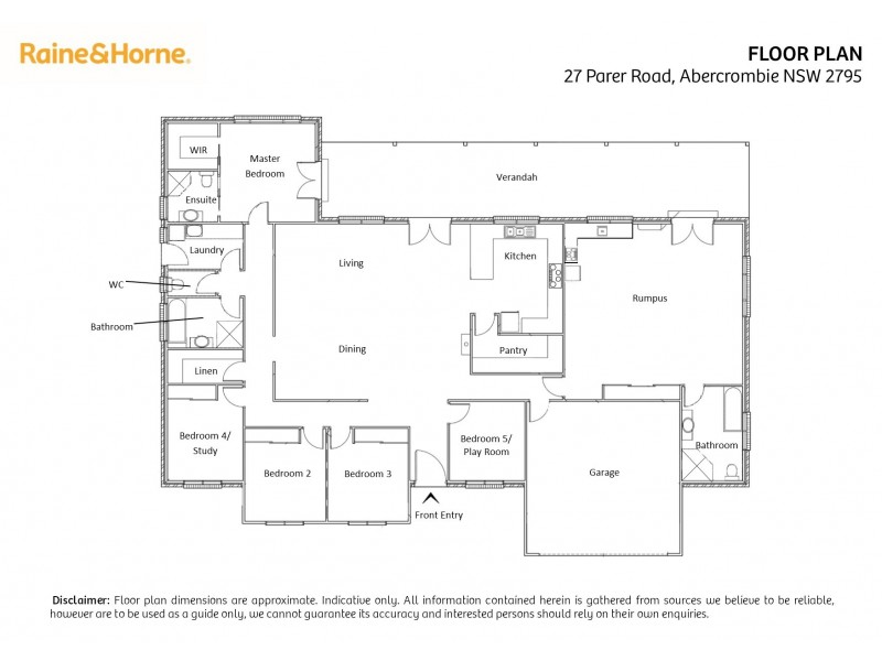 27 Parer Road, Abercrombie NSW 2795 Floorplan