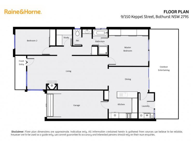 9/150 Keppel Street, Bathurst NSW 2795 Floorplan