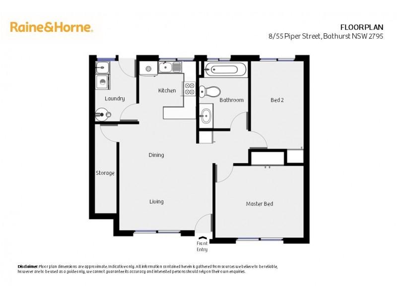 8/55 Piper Street, Bathurst NSW 2795 Floorplan