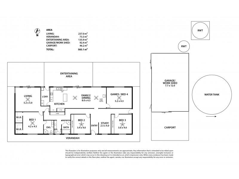 120 Ashbourne Road West, Ashbourne SA 5157 Floorplan