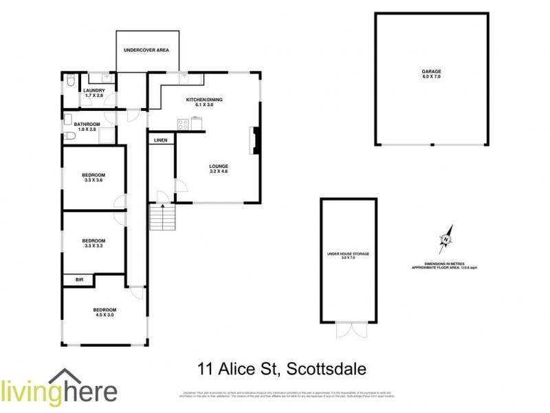 11 Alice Street, Scottsdale TAS 7260 Floorplan