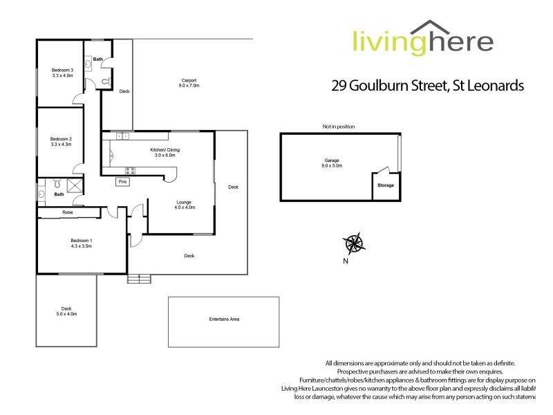 29 Goulburn Street, St Leonards TAS 7250 Floorplan