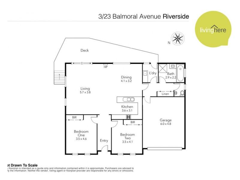 3/23 Balmoral Avenue, Riverside TAS 7250 Floorplan