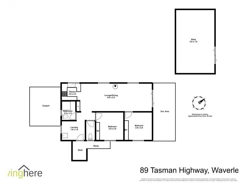 89 Tasman Highway, Waverley TAS 7250 Floorplan