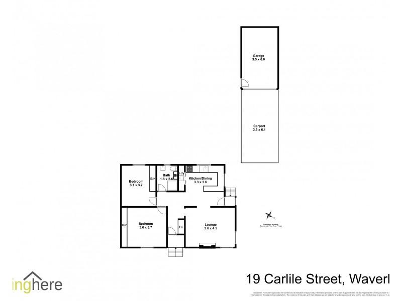 19 Carlisle Street, Waverley TAS 7250 Floorplan
