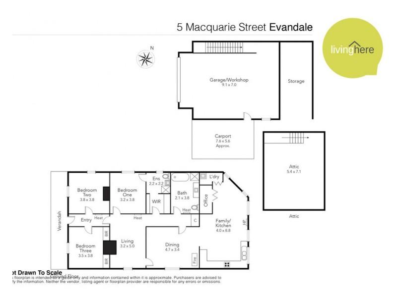 5 Macquarie Street, Evandale TAS 7212 Floorplan