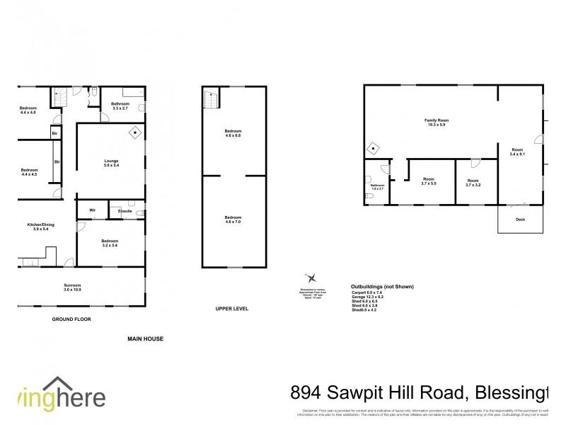 894 Sawpit Hill Road, Blessington TAS 7212 Floorplan