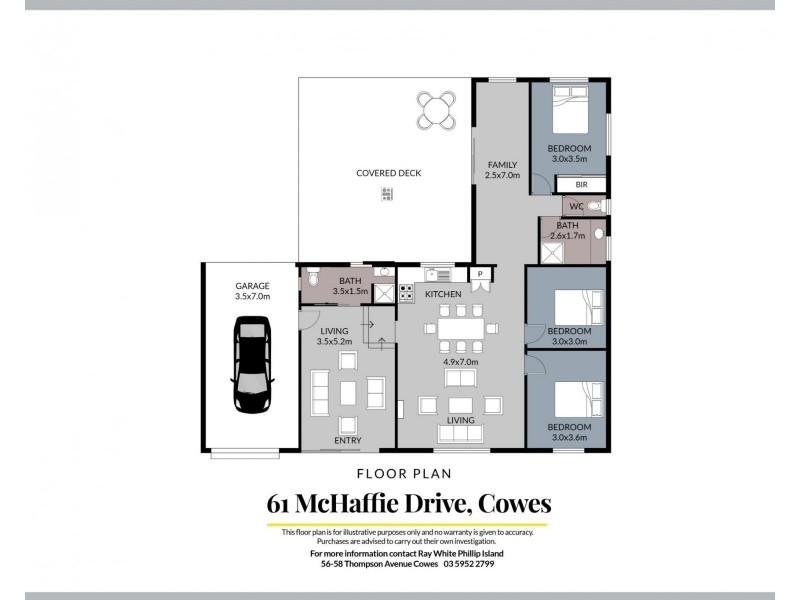 61 McHaffie Drive, Cowes VIC 3922 Floorplan
