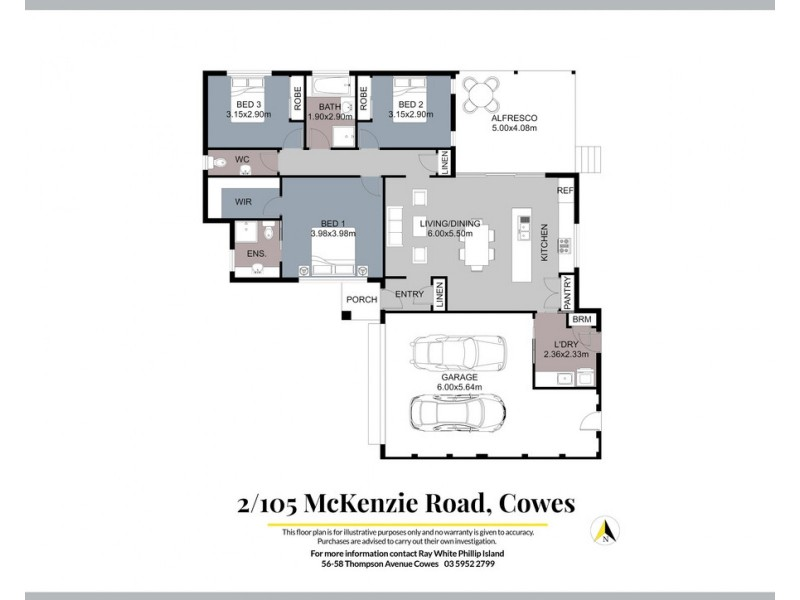 2/105 McKenzie Road, Cowes VIC 3922 Floorplan