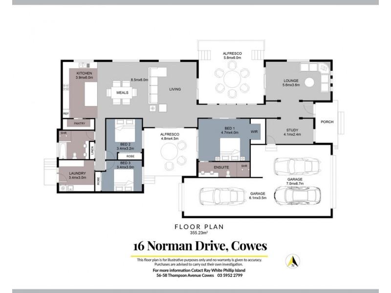 16 Norman Drive, Cowes VIC 3922 Floorplan