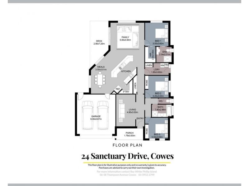 24 Sanctuary Drive, Cowes VIC 3922 Floorplan