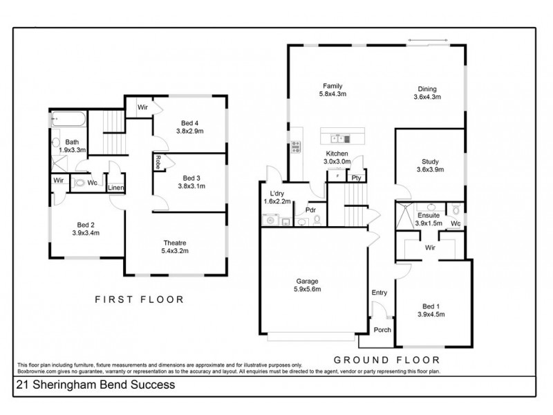 21 Sheringham Bend, Success WA 6164 Floorplan