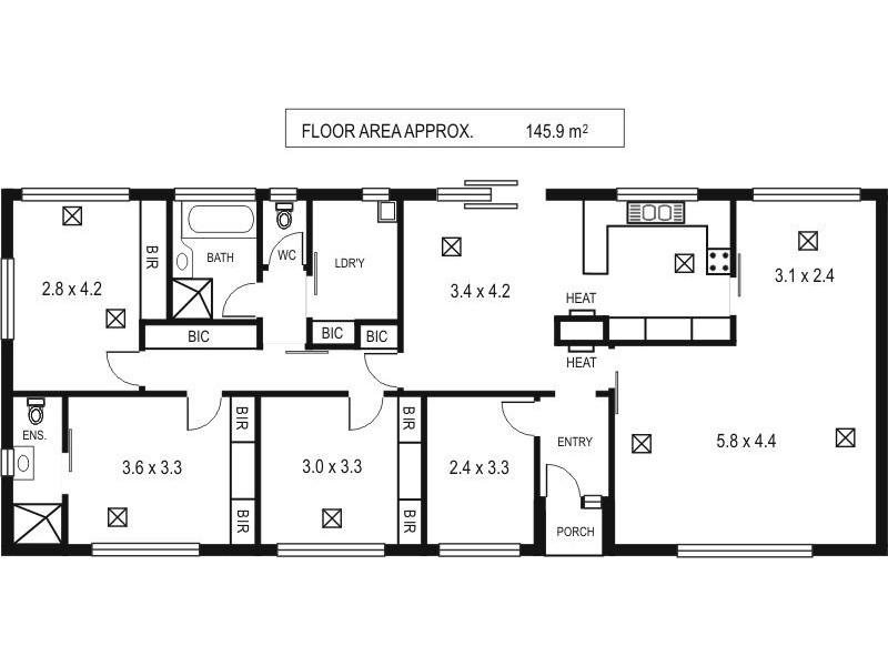 2 Avenue Road, Stirling SA 5152 Floorplan