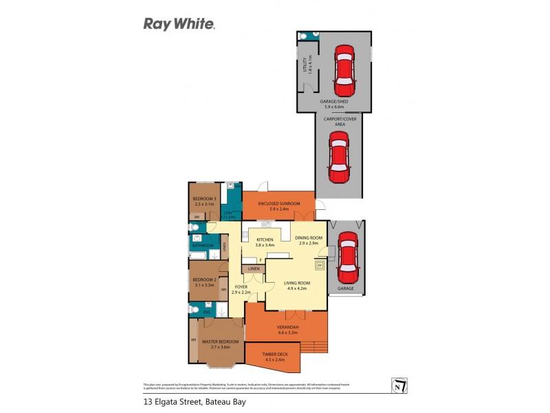 13 Elgata Street, Bateau Bay NSW 2261 Floorplan