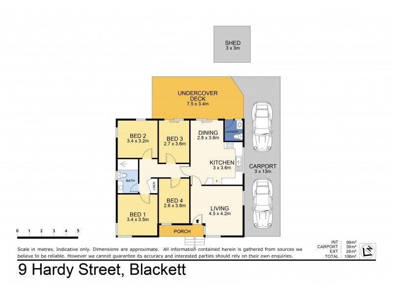 9 Hardy Street, Blackett NSW 2770 Floorplan