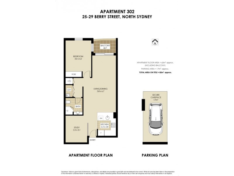 302/25-29 Berry Street, North Sydney NSW 2060 Floorplan