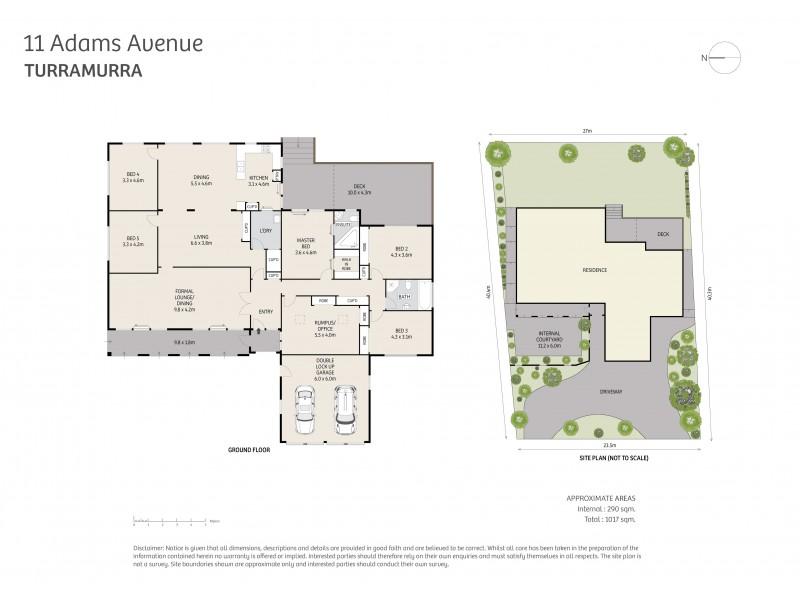 11 Adams Avenue, Turramurra NSW 2074 Floorplan
