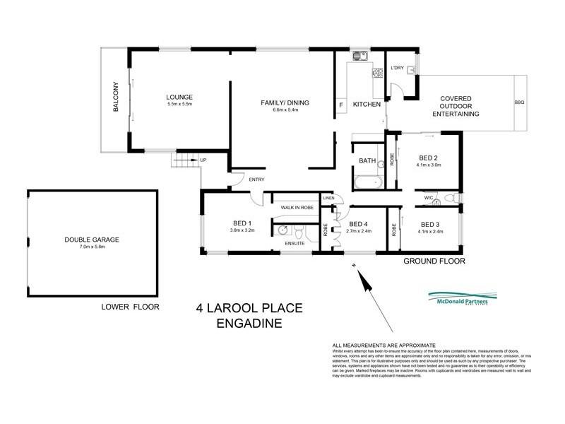 4 Larool Place, Engadine NSW 2233 Floorplan