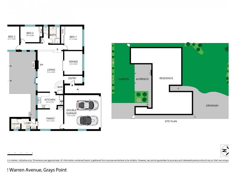 12 Warren Avenue, Grays Point NSW 2232 Floorplan