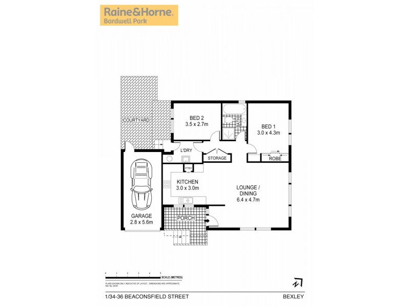 1/34-36 Beaconsfield Street, Bexley NSW 2207 Floorplan