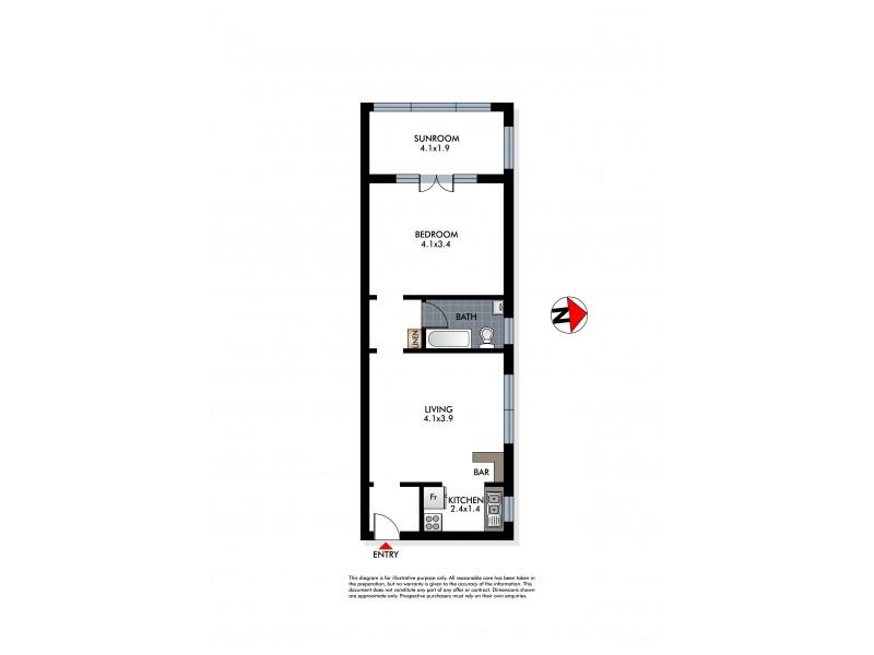 3/23a Bennett Street, Bondi NSW 2026 Floorplan