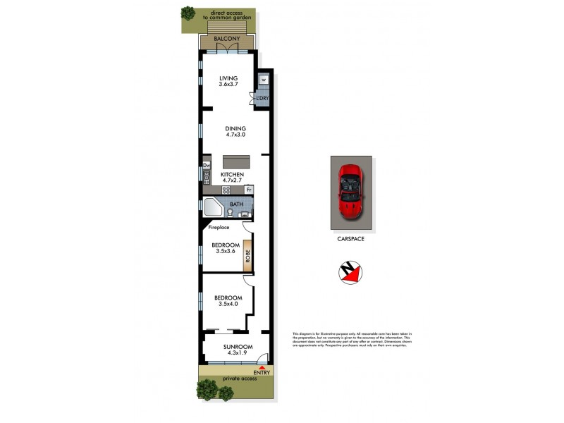 3/44 Beach Road, Bondi Beach NSW 2026 Floorplan
