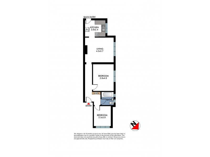 1/131 Curlewis Street, Bondi Beach NSW 2026 Floorplan