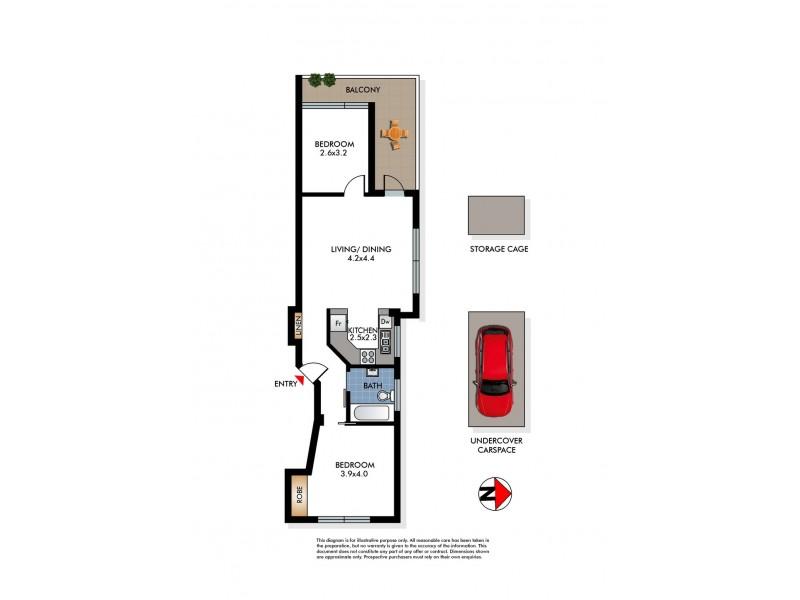 1/371A Old South Head Road, North Bondi NSW 2026 Floorplan