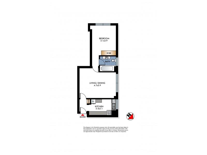 12/12 Francis Street, Bondi Beach NSW 2026 Floorplan