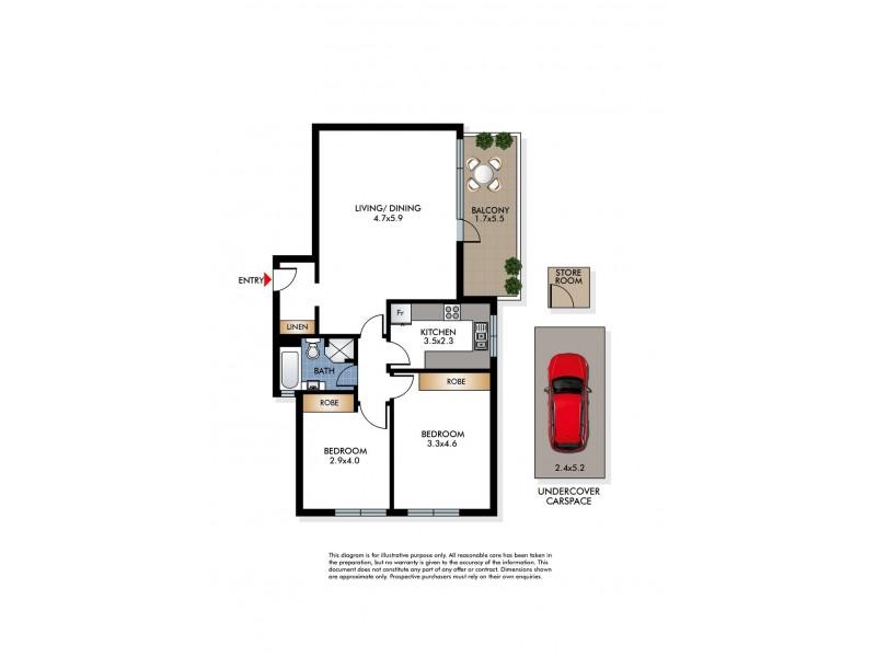8/118 O'Brien Street, Bondi Beach NSW 2026 Floorplan