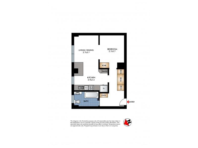 27/1 Beach Road, Bondi Beach NSW 2026 Floorplan