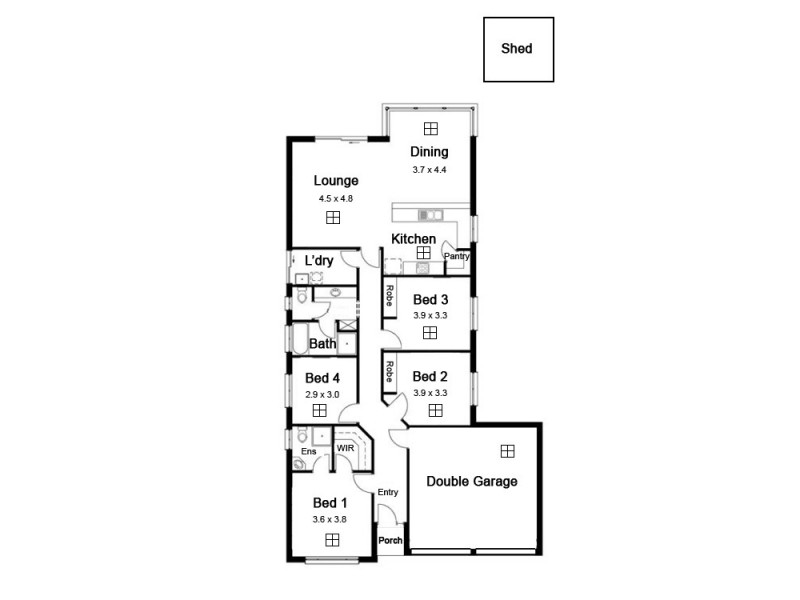 7 Cork Avenue, Andrews Farm SA 5114 Floorplan