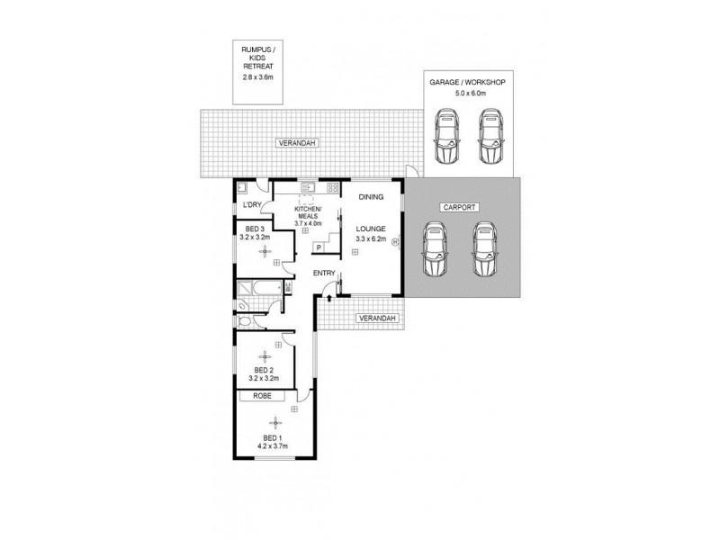 22 Woodcutts Road, Davoren Park SA 5113 Floorplan