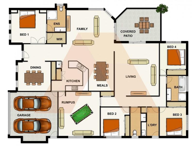 5 CORNELL CLOSE, Regents Park QLD 4118 Floorplan