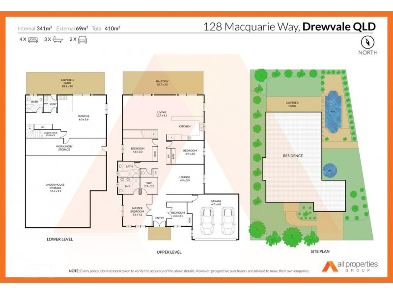 128 Macquarie Way, Drewvale QLD 4116 Floorplan