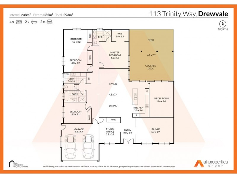 113 Trinity Way, Drewvale QLD 4116 Floorplan
